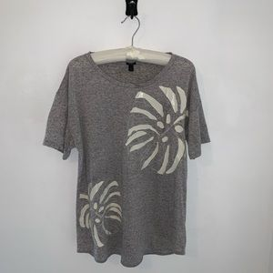 J.Crew women's blouse top T-shirt gray extra large